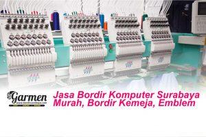 Jasa Bordir Komputer Surabaya Murah, Bordir Kemeja, Emblem